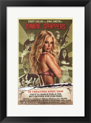 Framed Zombie Strippers Print