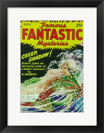 Framed Famous Fantastic Mysteries (Pulp) Print