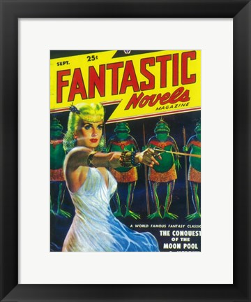 Framed Fantastic Novels (Pulp) Print