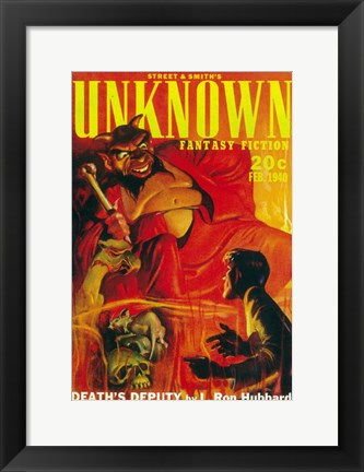 Framed Unknown Fantasy Fiction (Pulp) Print