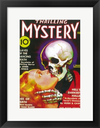 Framed Thrilling Mystery (Pulp) Print