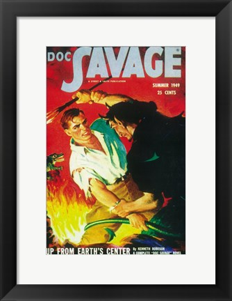 Framed Doc Savage (Pulp) Print
