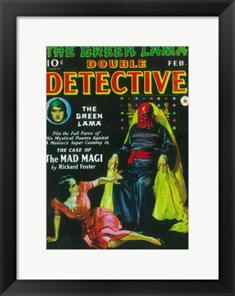 Framed Double Detective (Pulp) Print
