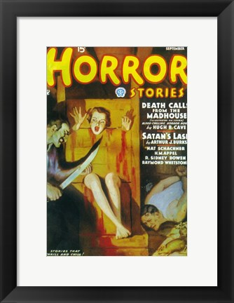 Framed Horror Stories (Pulp) Print