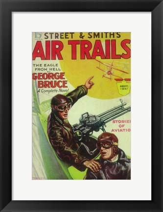 Framed Air Trails (Pulp) Print