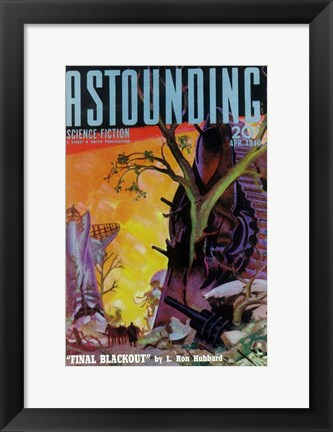 Framed Astounding Stories (Pulp) Print