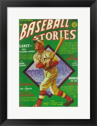 Framed Baseball Stories (Pulp) Print