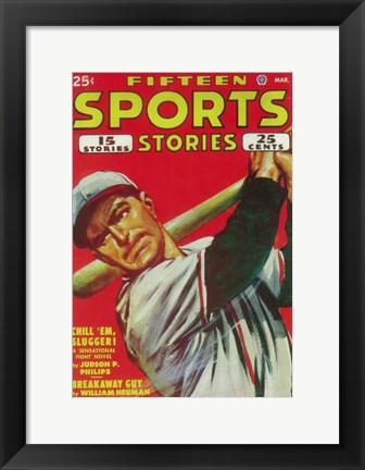 Framed Fifteen Sports Stories (Pulp) Print