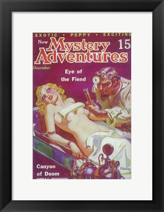 Framed New Mystery Adventures (Pulp) Print