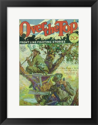 Framed Over The Top (Pulp) Print