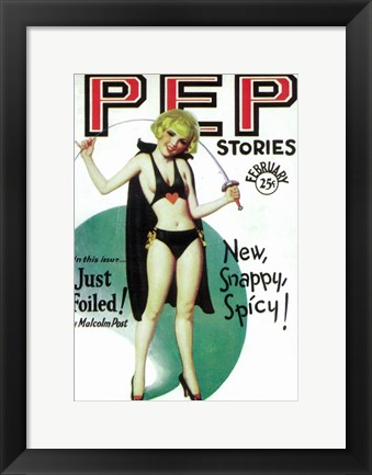 Framed Pep Stories (Pulp) Print