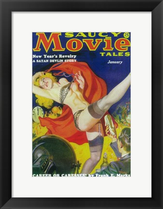 Framed Saucy Movie Tales (Pulp) Print