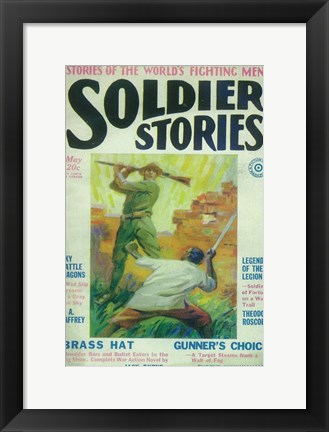 Framed Soldier Stories (Pulp) Print
