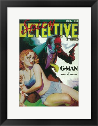 Framed Spicy Detective Stories (Pulp) Print