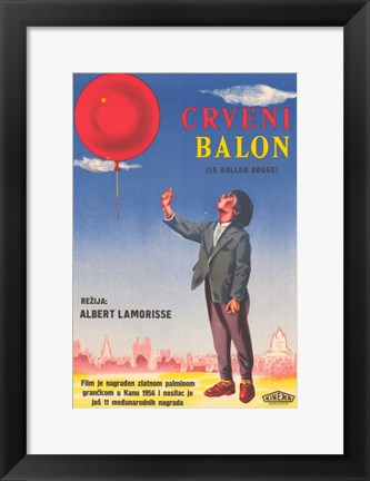 Framed Le Ballon rouge Print
