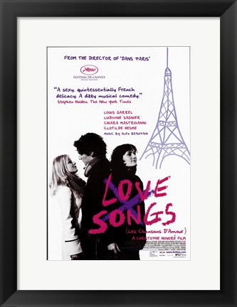 Framed Love Songs - eiffel tower Print