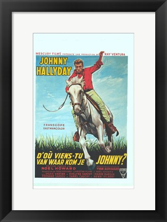 Framed Where Are You From Johnny? Print