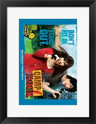 Framed Camp Rock Print