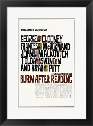 Framed Burn After Reading Print
