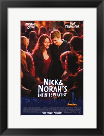 Framed Nick and Norah's Infinite Playlist Print