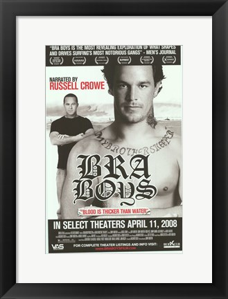 Framed Bra Boys Print