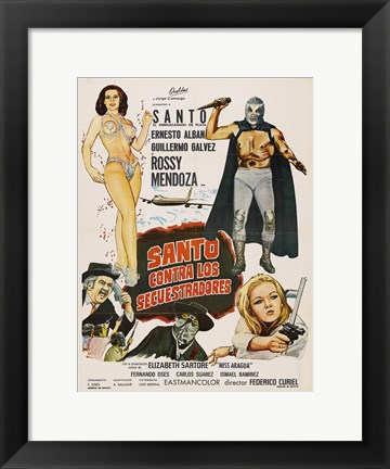 Framed Santo vs. the Kidnappers Print