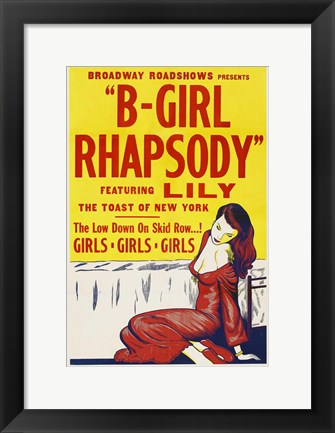 Framed B-Girl Rhapsody Print