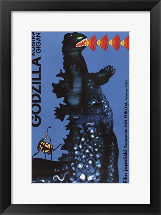 Framed Godzilla vs. Gigan Print
