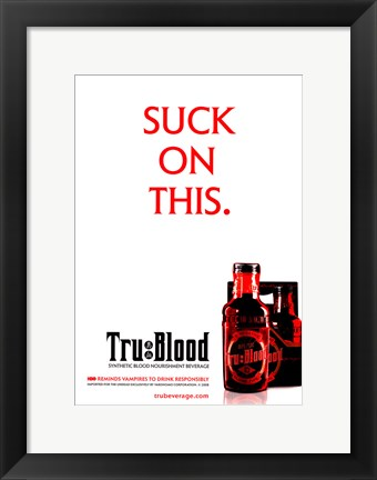 Framed True Blood (TV) Suck on This Print