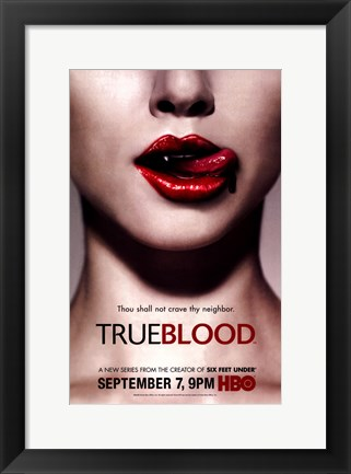 Framed True Blood (TV) Thou Shall Not Crave Thy Neighbor Print