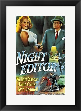 Framed Night Editor Print