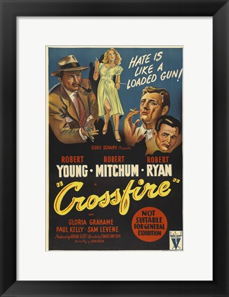 Framed Crossfire Print