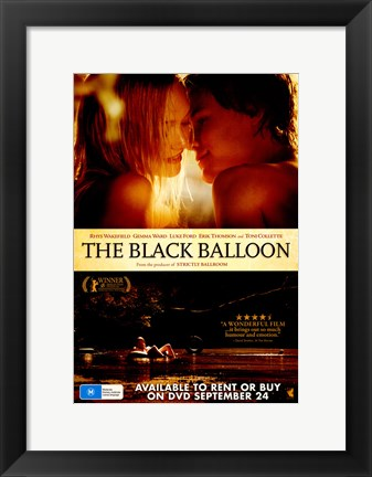 Framed Black Balloon Print