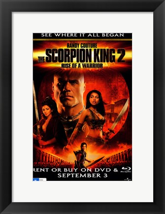 Framed Scorpion King 2: Rise of a Warrior Print