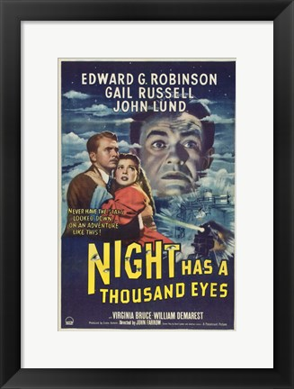Framed Night Has a Thousand Eyes Print
