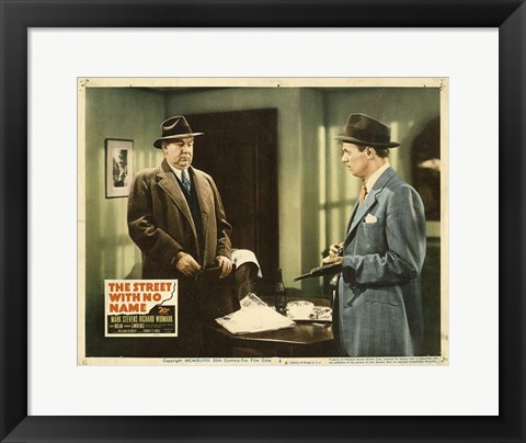 Framed Street With No Name - scene Print