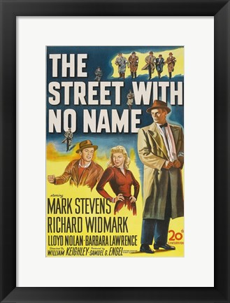 Framed Street With No Name Print