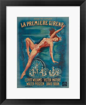 Framed Million Dollar Mermaid Print