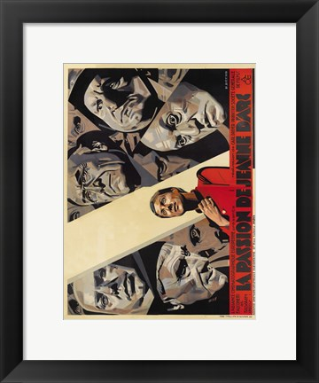 Framed Passion of Joan of Arc Print