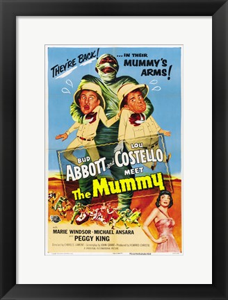 Framed Abbott and Costello Meet the Mummy, c.1955 Print