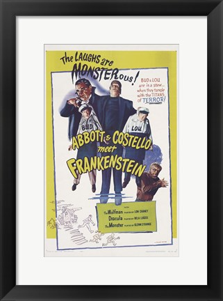 Framed Bud Abbott and Lou Costello Meet Frankenstein, c.1948 Print