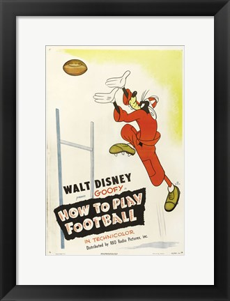 Framed How to Play Football Print