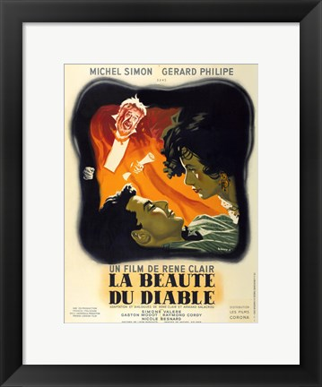 Framed Beauty and the Devil Print