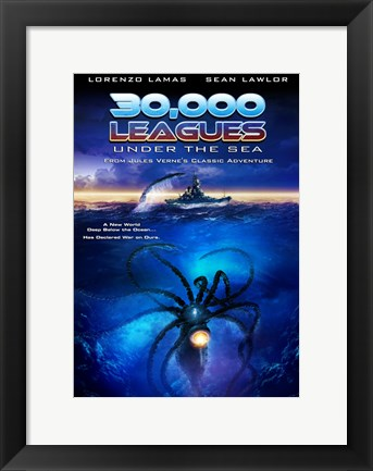Framed 30,000 Leagues Under the Sea Print