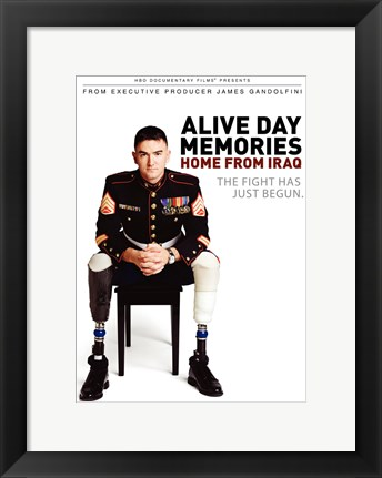 Framed Alive Day Memories: Home from Iraq Print