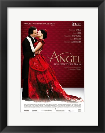 Framed Angel Kiss in Red Print