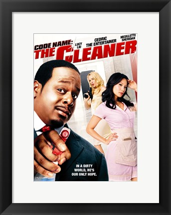 Framed Code Name: The Cleaner - pointing a spray bottle Print