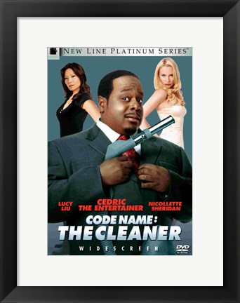 Framed Code Name: The Cleaner - Cedric the Entertainer Print