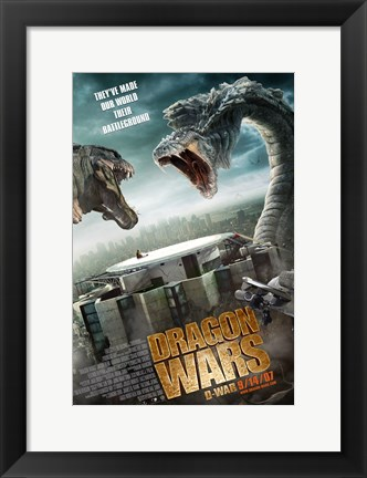 Framed D-War World is a Battleground Print