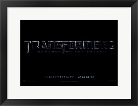 Framed Transformers 2: Revenge of the Fallen - style A Print
